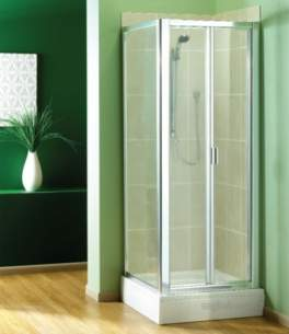 Manhattan Shower Enclosures -  Manhattan Broadway 900 Bifold Dr Wht/clr