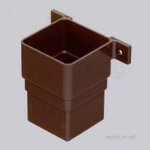 Marley Rainwater -  65mm Square Pipe Socket Plus Fix Lugs Rle1-b