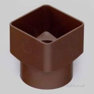 Marley Rainwater -  65mm Sq To 68mm Rd Drain Adaptor Rle2-br