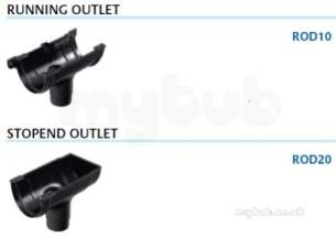 Marley Rainwater -  Deepflow Running Outlet To 68mm Rod10-g