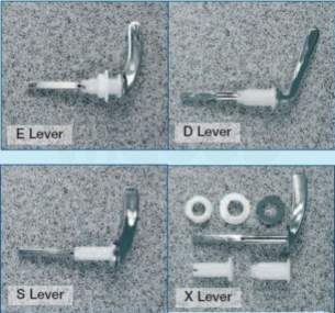 Miscellaneous Cistern Accessories -  Lever Assembly D-type Front. Plastic