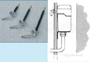 Miscellaneous Cistern Accessories -  D-type Front Lever Assembly Ch Metal.