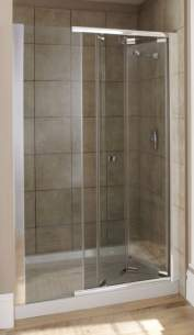 Kohler Daryl Piero Shower Enclosures -  Kohler Daryl 1200mm Mattia Bifold Door Slv/cl