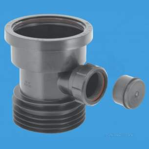 Mcalpine Waste traps overflow -  4 Inch /110mm Drain Connector Dc1-bl-bo