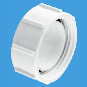 Mcalpine Waste traps overflow -  1.25 Inch Blank Cap For Bsp Threads S23