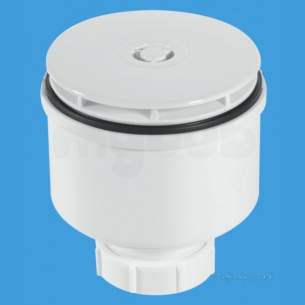 Mcalpine Waste traps overflow -  Shower Trap 90mm X 50mm V/o Wh St90wh10-v