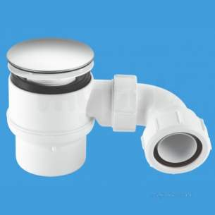 Mcalpine Waste traps overflow -  Shower Trap 11/2 Inch X50mm 85mm Cp Stw8m-95