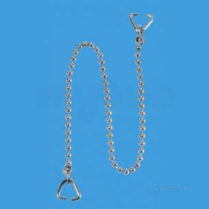 Mcalpine Waste traps overflow -  16 Inch Chrome Plated Chain And 2 Triangles Ch4