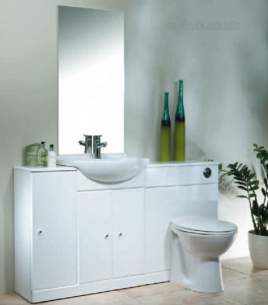 Roper Rhodes Accessories -  Meridian/evo 500mm Plain Mirror White