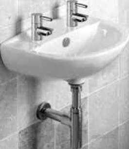 Roper Rhodes Basins -  Roper Rhodes Micra 450 Basin Double Tap Hole