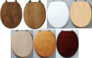 Tavistock Toilet Seats -  Millennium Wc Seat Oak Chrome Plated Hinge O141m