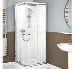 Mira Ace Shower Enclosures -  Mira Ace 900mm L/h Corner Entry Sl/cl