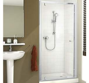 Mira Ace Shower Enclosures -  Mira Ace 1000mm Pivot Door Sl/cl