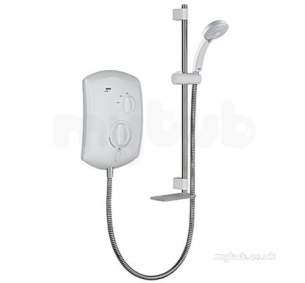 Mira Jump Electric Showers -  Mira Jump Electric Shower 9.5 Kw White Chrome