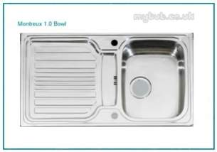 Astracast Sinks and Accessories -  Montreux 1.0b Feature Sink Pack B/steel