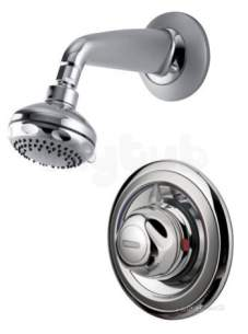 Aqualisa Showers -  Aqualisa 609.bir.01 Chrome Aquavalve One Handle Concealed Shower Mixer Fixed Shower Head