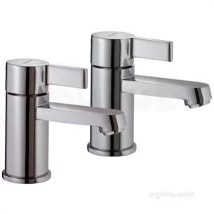 Aqualisa Axis Brassware -  Aqualisa 450.01 Chrome Double Handle Deck Mount Basin Tap Set Of 2