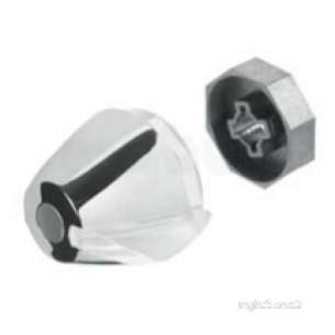 Aqualisa Showers -  Aqualisa 214013 Chrome Off/on Control Knob For Opto Thermo Valves