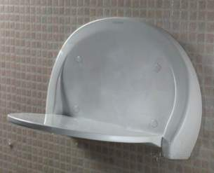 Aqualisa Showers -  Aqualisa 91.02.01 White Shower Seat Wall Mount