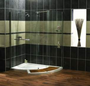 Aqualux Aquanos Aquaspace and Pura Ranges -  Ftr0213aqu Na Aquaspace Walk-around Right Hand Shower Tray 65mm