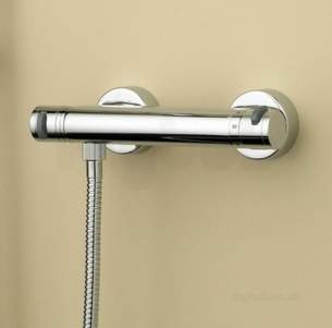 Polished Chrome Artisan Surface Mounted Bar Shower Valve With Fast Fit Connections