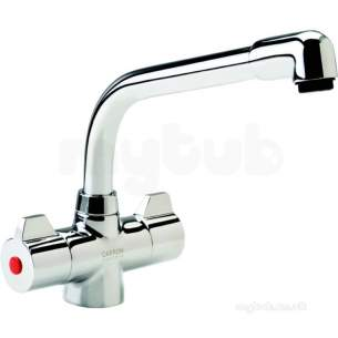 Carron Phoenix Taps And Mixers -  Carron Phoenix 2t0880 Chrome Aztec 1/4 Turn Mono Bloc Sink Mixer