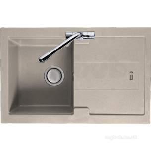 Carron Trade Sinks -  Champagne Bali Reversible Kitchen Sink With Compact Single Bowl And Drainer