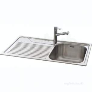 Carron Retail Sinks -  101.0042.951 Ss Lavella Kitchen Sink With Left Hand Single Bowl And Drainer