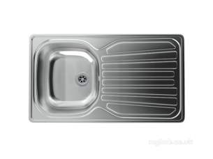 Carron Trade Sinks -  Precision Plus Unpolished Kitchen Sink With Compact Single Bowl And Drainer