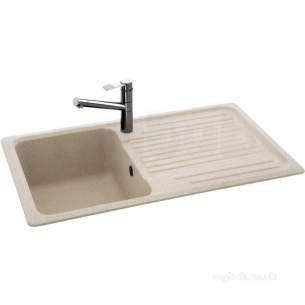 Carron Retail Sinks -  Champagne Summit Reversible Kitchen Sink With Drainer And Large Single Bowl