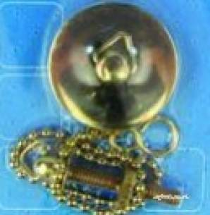 Own Brand Blister Packs -  Center Brand Udc/54/186 Gold 38 Mm Plug With Ball Chain