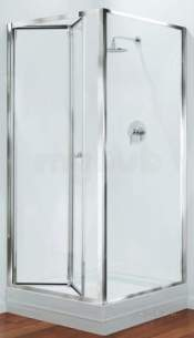 Center 4mm Shower Enclosures -  Center Brand Cbgbbf90cuc Chrome/clear Glass Bifold Shower Door 900mm Wide