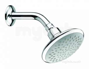 Center Shower Accessories -  Center Brand C04838 Chrome Fixed 120mm Shower Head Rub Clean Nozzles