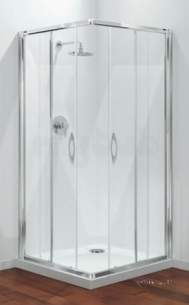 Coram Premier Shower Packs -  Coram Pack18 Chrome Premier 900mm Corner Entry Shower Enclosure Pack With Clear Glass