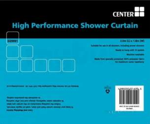 Plumb Center Showertrack and Curtains -  Croydex Gp 85195 White 2 M High Performance Shower Curtain