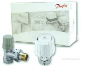 Danfoss Randall Commercial Valves -  Danfoss 013g602100 White Vertical Angle Combi Pack