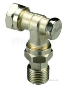 Danfoss Randall Ras C and Ras D Trvs -  Danfoss 003l020300 Nickel Rlv-d 15mm Lockshield Valve With Compression Fitting