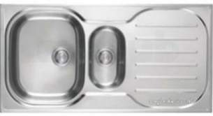 Franke Sinks -  Silk Steel Compact Plus Cp651 Rh 1.5 Bowl Kitchen Sink Right Hand Drainer