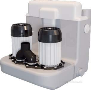 Commercial Sanifo Sanitary Systems -  Saniflo 1046/2 White Sanicom 2 Heavy Duty Grey Water Pump