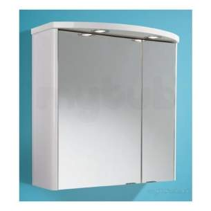 Flabeg Cabinets And Mirrors -  Hib 993.856015 Ambiente Illuminated Bathroom Cabinet With 60/40 Split Mirrored Doors