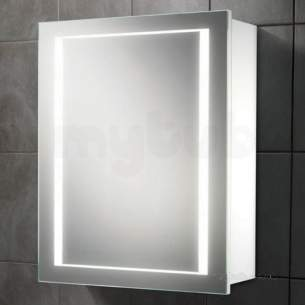 Hib Lighting Cabinets and Mirrors -  Hib 9101900 White Austin 500x630mm Single Bathroom Cabinet Door Back-lit