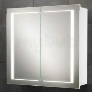 Hib Lighting Cabinets and Mirrors -  Hib 9102000 White Colorado 500x630mm Double Bathroom Cabinet Door Back-lit