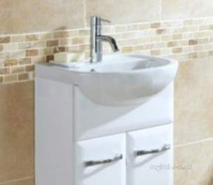 Flabeg Cabinets And Mirrors -  Hib 993.994036 White Sorrento 400mm Wash Basin One Tap Hole