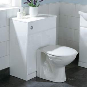 Flabeg Cabinets And Mirrors -  Hib 993.206049 White Denia Back To Wall Wc Unit