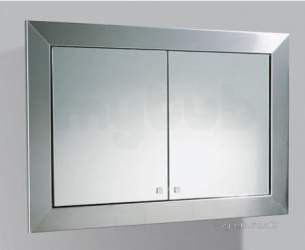 Flabeg Cabinets And Mirrors -  Hib 1062200 Ss Gamma Bathroom Cabinet With Double Mirrored Doors Inside Frame