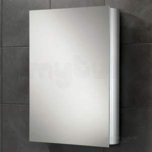 Hib Lighting Cabinets and Mirrors -  Hib 42400 Aluminium Nitro 500x700mm Single Door Wc Cabinet Mirror Door