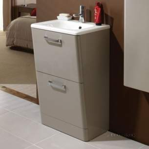 Hib Lighting Cabinets and Mirrors -  Hib 9601600 Tan Palamas 500x845mm Floor Standing Wc Vanity Two Drawer