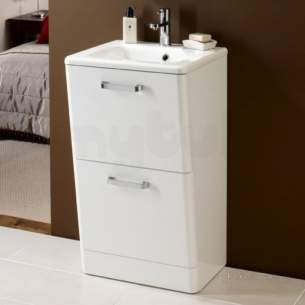 Hib Lighting Cabinets and Mirrors -  Hib 9601700 White Palamas 500x845mm Two Drawer Wc Vanity Floor Standing