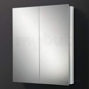 Hib Lighting Cabinets and Mirrors -  Hib 42500 Aluminium Quantum 500x700mm Single Door Wc Cabinet Mirror Door