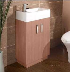 Flabeg Cabinets And Mirrors -  Hib 1380060 Medium Oak Revio Metro Floor Standing Cloakroom Unit Two Door